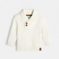 Δίχρωμο πλεκτό πουλόβερ