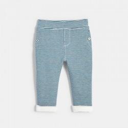 Παντελόνι πλεκτό ριγέ ζεστό