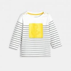 T-shirt raye a motif marin