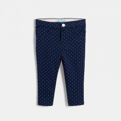 Pantalon satin stretch couleur
