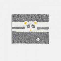 Snood panda tricot