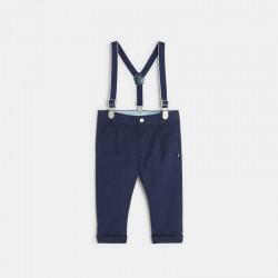 Pantalon toile avec bretelles
