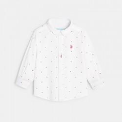 Chemise blanche imprimee
