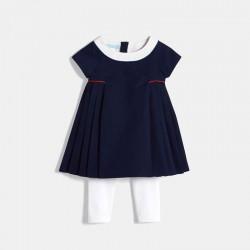 Φόρεμα πλισέ και κολάν