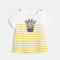 T-shirt raye a motif
