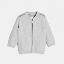 Gilet tricot coton zippe