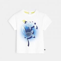 T-shirt coton recyclΓ Γ motif