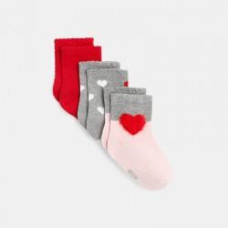 Chaussettes coeur (lot de 3)