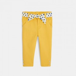 Pantalon toile et ceinture