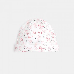 Bonnet jersey imprim+σ fleuri