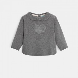 Pull coeur col claudine